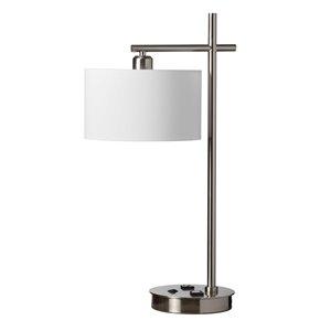 Lampe de table de Dainolite, 1 lumière, 26,5 po, chrome satiné