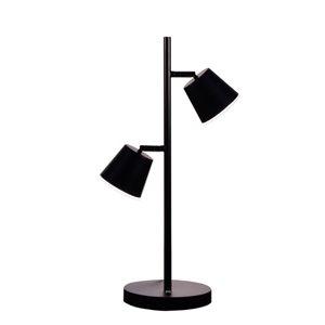 Lampe de table Modern de Dainolite, 2 lumières, 20,5 po, noir mat