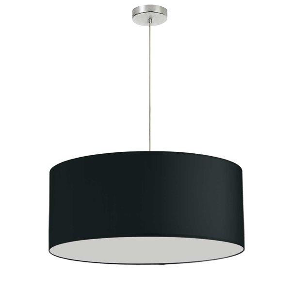 Luminaire suspendu Oversized Drum de Dainolite, 1 lumière, 24 po x 14.5 po, noir