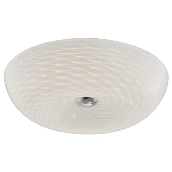 Dainolite Flush Mount Light - 1-LED Light - 16-in x 4.5-in - Glass