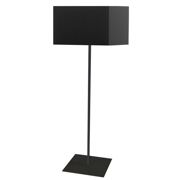 Dainolite Maine Floor Lamp - 1-Light - Matte Black Frame - Black Shade