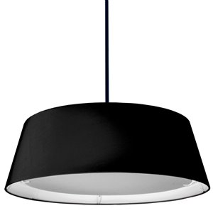 Dainolite LED Pendant Light - 1-Light - 24-in x 8-in - Black