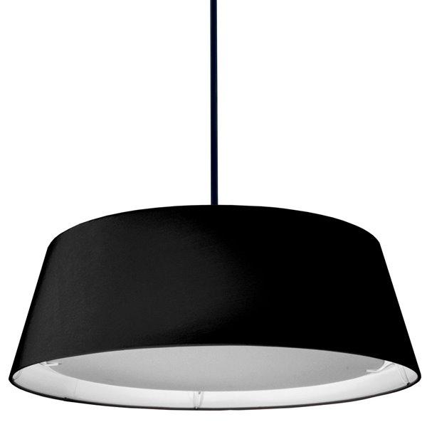 Luminaire suspendu de Dainolite, 1 lumière, 24 po x 8 po, noir