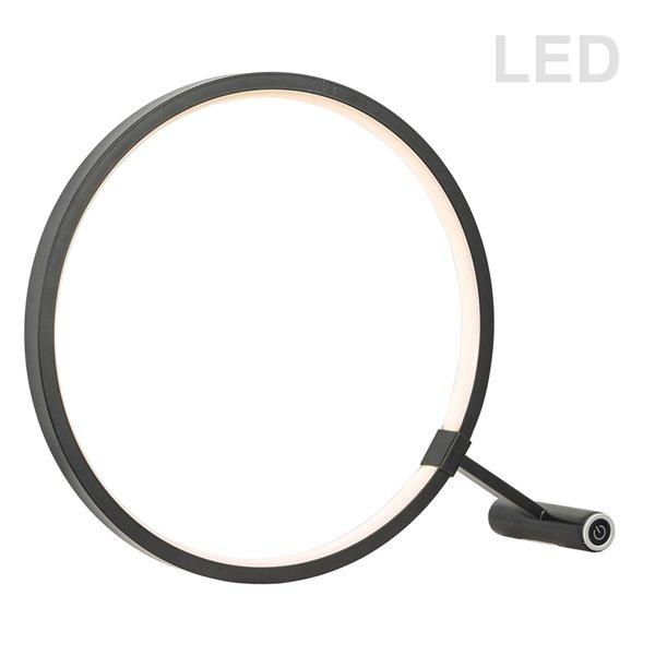 Dainolite Table Lamp - 1-LED Light - 12-in - Black