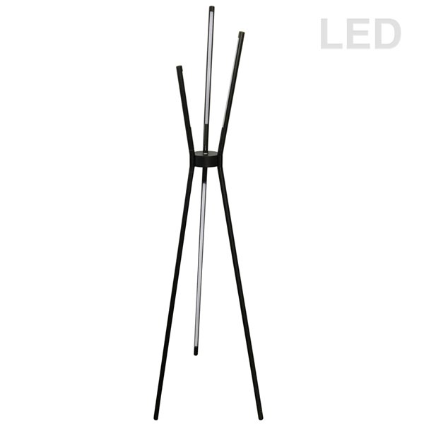Dainolite Cerena Floor Lamp - 4-Light - 60-in - Satin Black