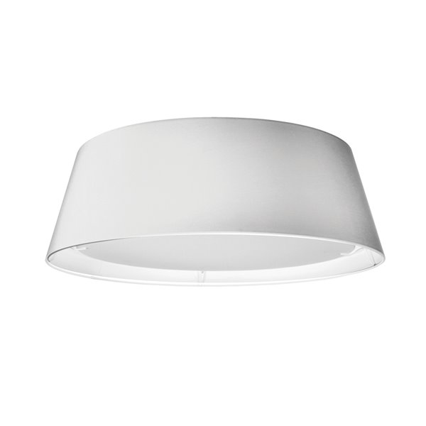Dainolite Flush Mount Light - 1-LED Light - 17-in x 6-in - White