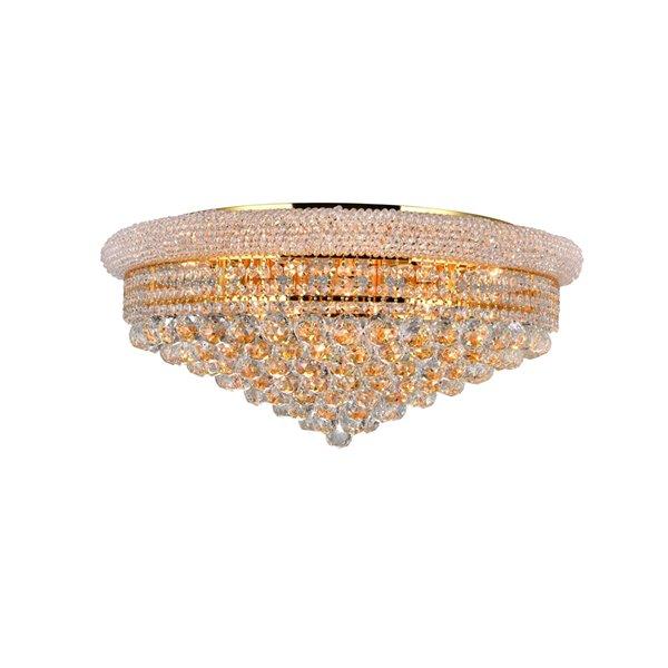 CWI Lighting Empire 15 Light  Flush Mount - Gold finish - 28-in x 28-in