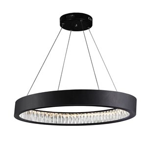 CWI Lighting Rosalina LED Chandelier - Matte Black Finish - 32-in
