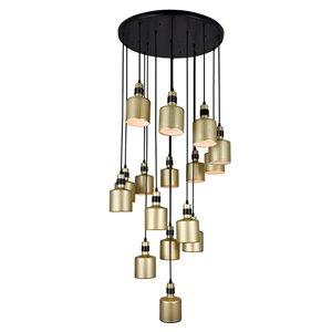 CWI Lighting Forate 16 Light Multi Light Pendant - Pearl Gold Finish - 26-in