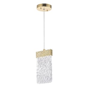 CWI Lighting Carolina LED Pendant - Gold Leaf Finish - 5-in