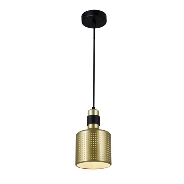 CWI Lighting Forate 1 Light Down Mini Pendant - Pearl Gold Finish - 5-in