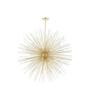 CWI Lighting Savannah 14 Light Chandelier - Gold Leaf Finish - 40-in