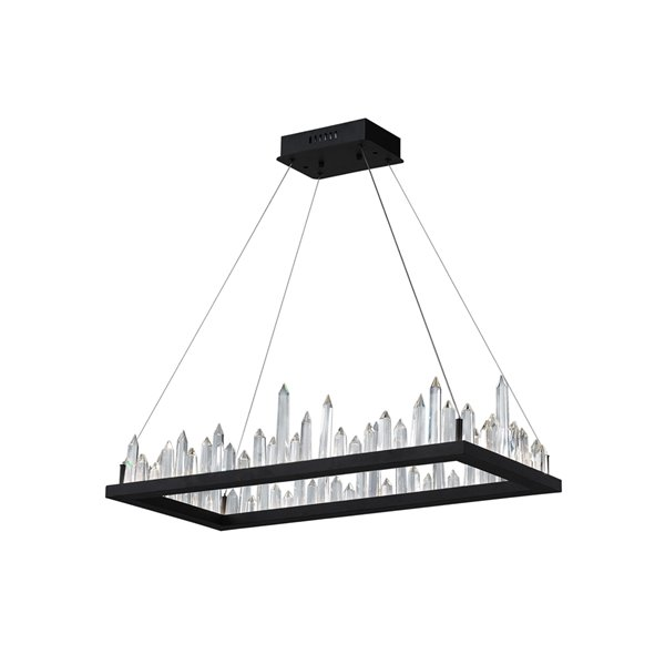 CWI Lighting Juliette LED Chandelier - Black Finish - 44-in