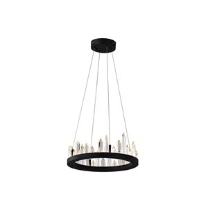 CWI Lighting Juliette LED Chandelier - Black Finish - 16-in
