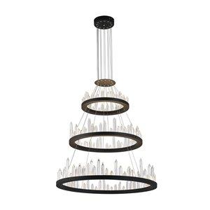 CWI Lighting Juliette LED Chandelier - Black Finish - 42-in