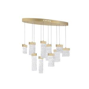 CWI Lighting Carolina LED Chandelier - Gold Leaf Finish - 40-in