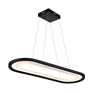 LED Island Chandelier with Black finish