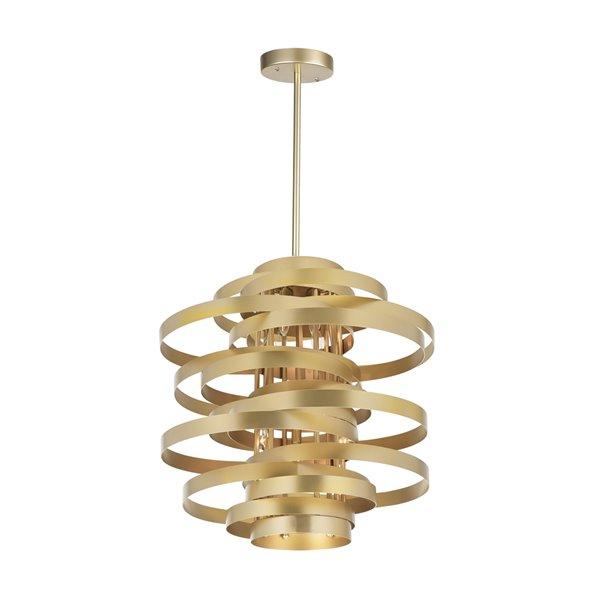 CWI Lighting Elizabetta 6 Light Chandelier - Gold Leaf Finish - 18-in