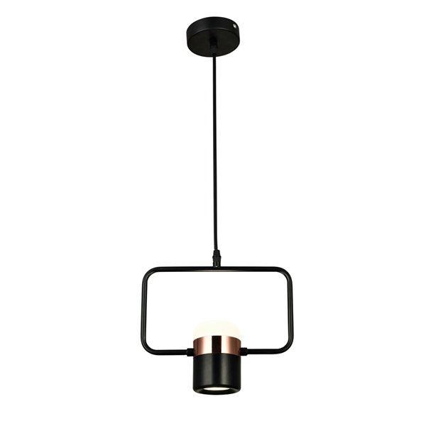 CWI Lighting Moxie LED Down Mini Pendant - Black Finish - 10-in