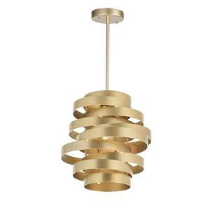 CWI Lighting Elizabetta 1 Light Pendant - Gold Leaf Finish - 10-in