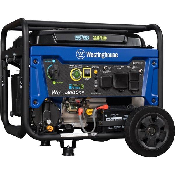 Génératrice à double combustible WGen3600DF de Westinghouse