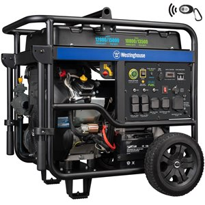 Westinghouse WGen12000DF Remote Electric Start Dual Fuel Generator
