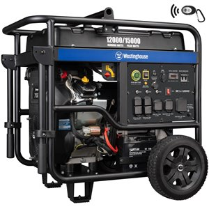 Westinghouse WGen12000 Remote Electric Start Portable Generator - Gas
