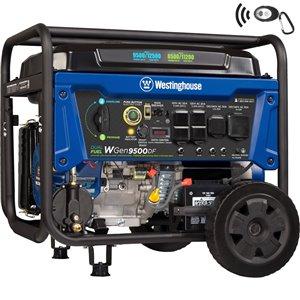 Génératrice électrique portable Westinghouse WGen9500DF à double démarrage
