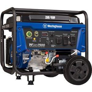 Génératrice portative WGen7500DF de Westinghouse