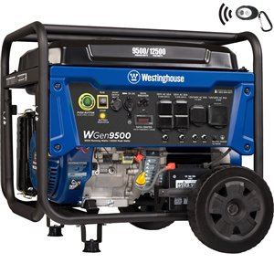 Westinghouse WGen9500 Remote Electric Start Portable Generator