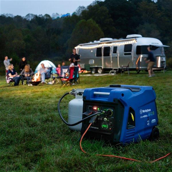 Génératrice portative à double combustible Westinghouse iGen4500DF, essence/propane