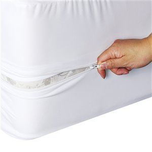Millano Collection Bug Armour Mattress Protector - 75-in x 54-in - White