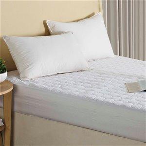 Millano Collection Quattro Plus Mattress Protector - 75-in x 39-in - White