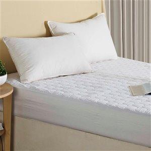 Millano Collection Quattro Plus Mattress Protector - 80-in x 78-in - White