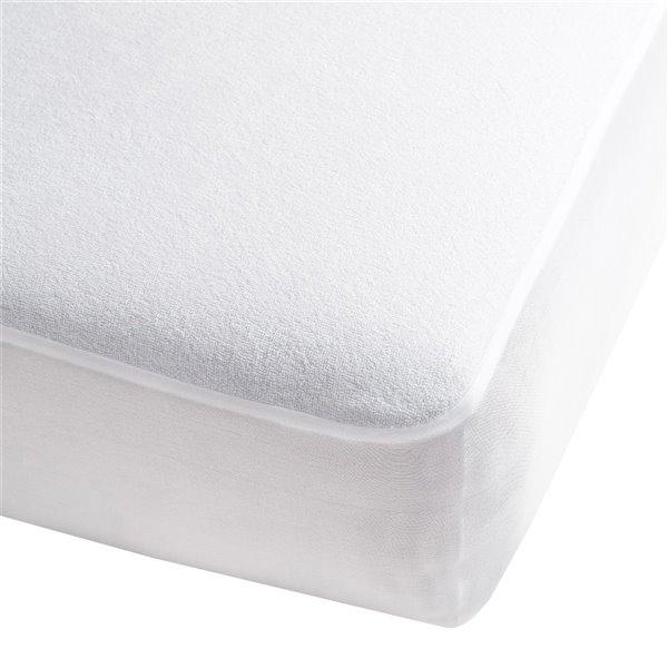 Couvre-matelas SilverClear de Millano Collection, 75 po x 54 po, blanc