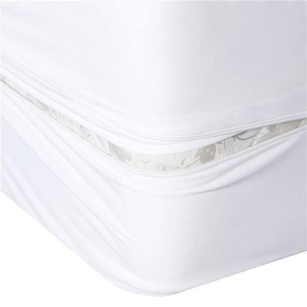 Housse protectrice pour matelas Bug Armour de Millano Collection, 80 po x 54 po, blanc