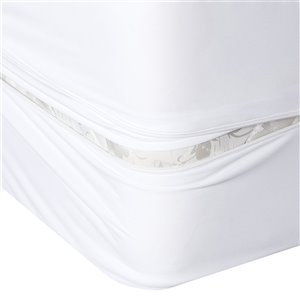 Millano Collection Bug Armour Mattress Protector - 80-in x 54-in - White