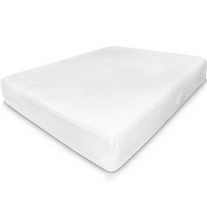Millano Collection SilverClear Deluxe Mattress Protector - 75-in x 54-in - White