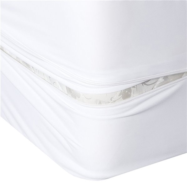 Millano Collection Bug Armour Mattress Protector - 80-in x 78-in - White