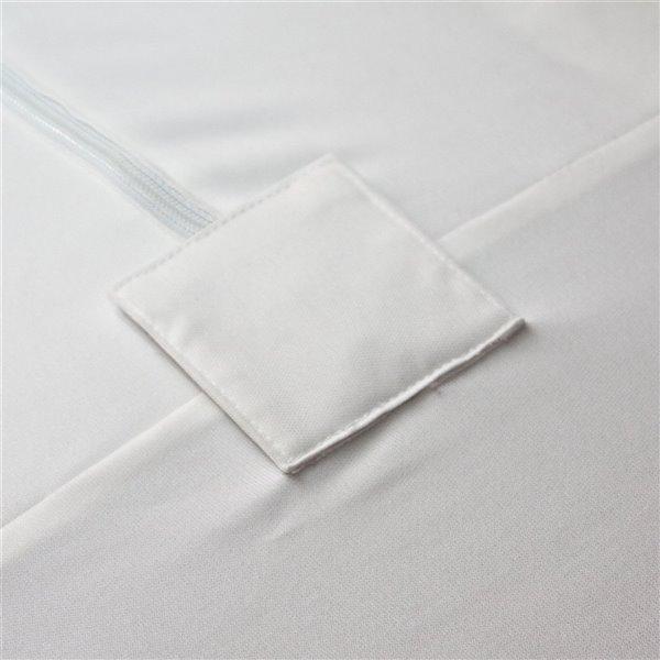 Housse protectrice pour matelas SilverClear Deluxe de Millano Collection, 80 po x 60 po, blanc