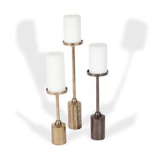 Ensemble de 3 chandeliers Faidra de Gild Design House, métal or et bronze, ens. de 3