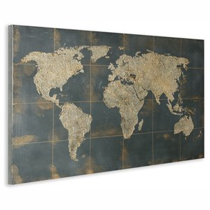 Gild Design House Golden Map Wall Art Decor - 32-in x 48-in