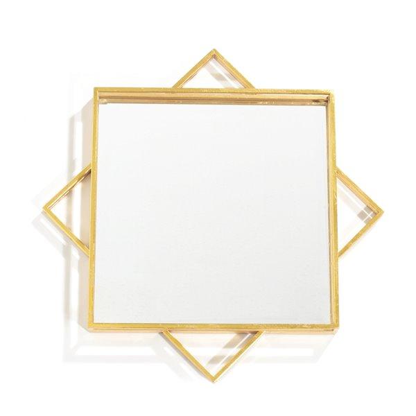 Miroir Parri Gild Design House or, 24 po x 24 po