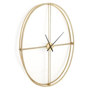 Horloge murale Nouvel Gild Design House, couleur or, 50 po x 37 po