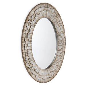 Miroir ovale Stella Gild Design House, argent antique, 50 po x 30 po