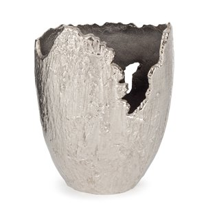 Gild Design House Terra Decorative Vase Large - Grey - 13-in