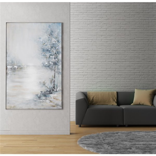 Gild Design House Blue Meadow Wall Art Decor - 62-in x 40-in