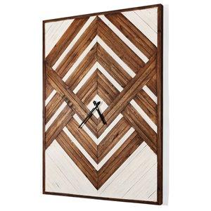 Gild Design House Nahlah Wood Clock - 34-in x 24-in