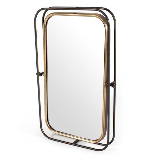 Miroir Bevin Gild Design House, gris, 27,5 po x 18 po