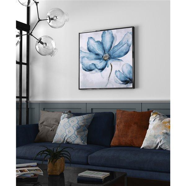 Gild Design House Blue Blossom Wall Art Decor - 33-in x 33-in